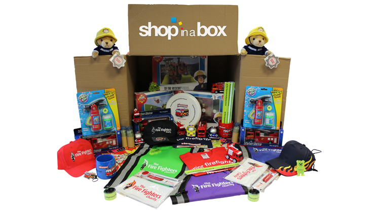Shop in a Box – The Fire Fighters Charity