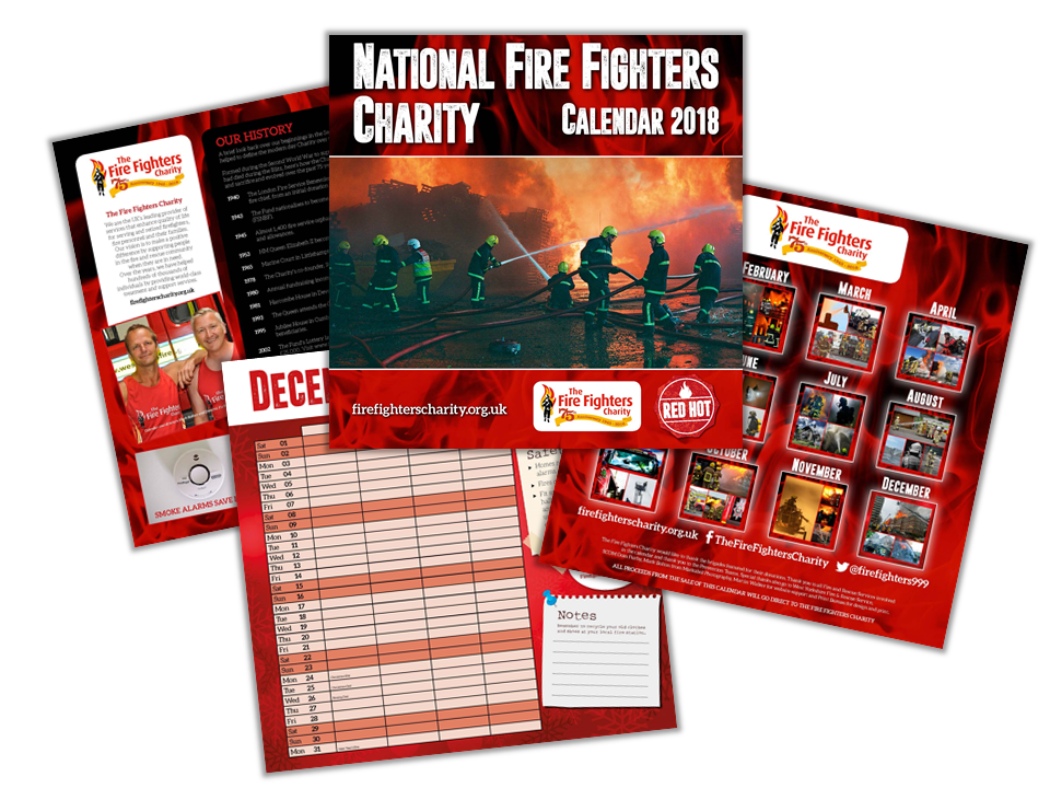 The National Fire Fighters Charity Calendar 2018