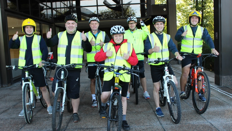Super-fundraiser sets off on 133-mile cycle ride