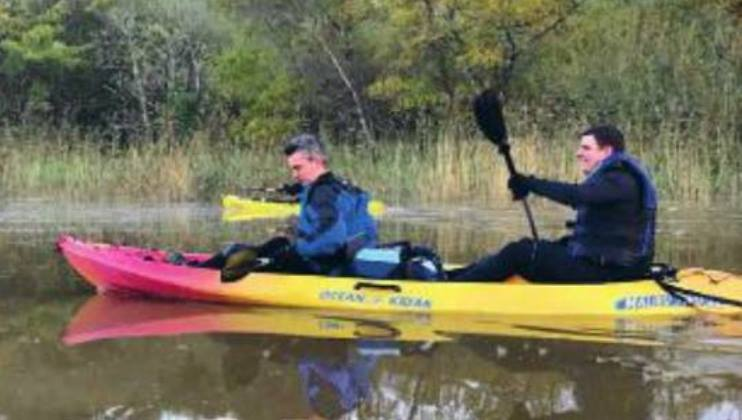 Firefighters' 30 mile paddle