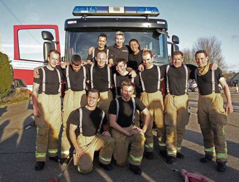 trainee firefighters FEATURE