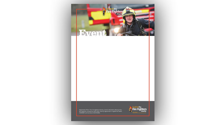 Event poster template (Firefighter running)