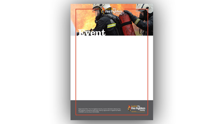 Event poster template (Firefighters in action)