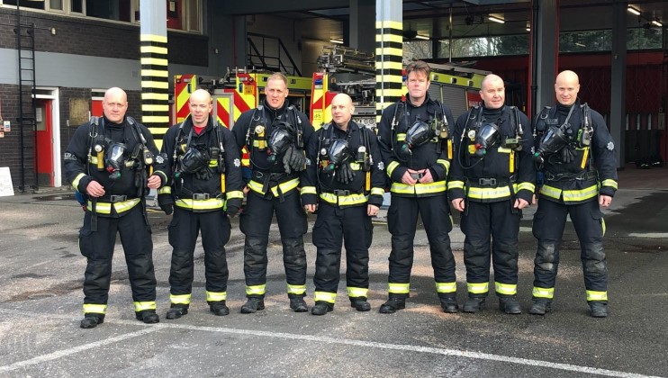 Firefighters' marathon effort for Grenfell survivors