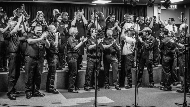 Could fire fighter choir scoop the Christmas number one?