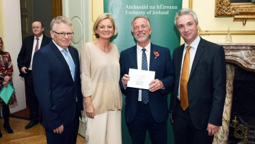 A cheque presentation and an unexpected meeting
