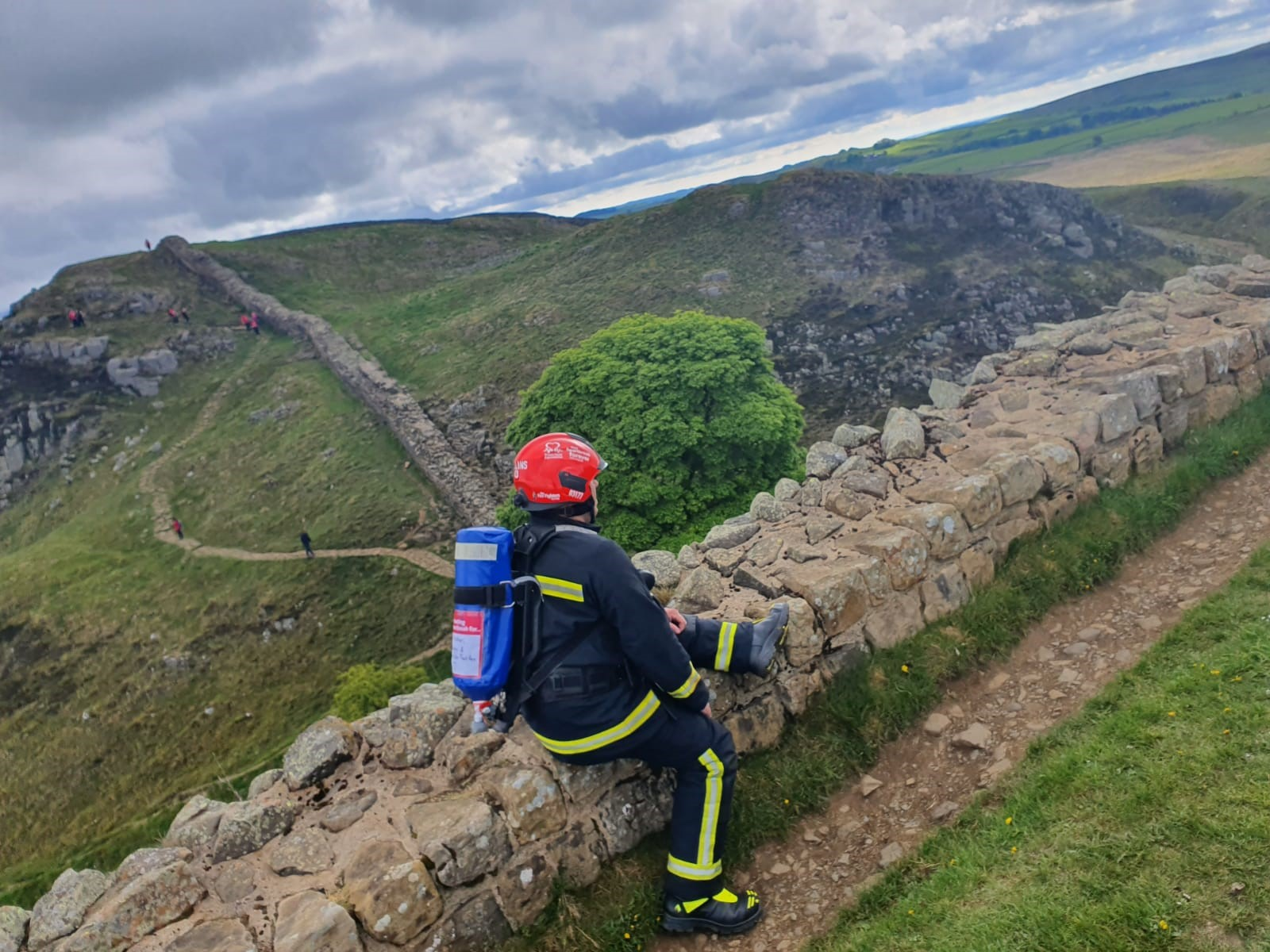 The ups and downs of trekking Hadrian's Wall in full fire kit