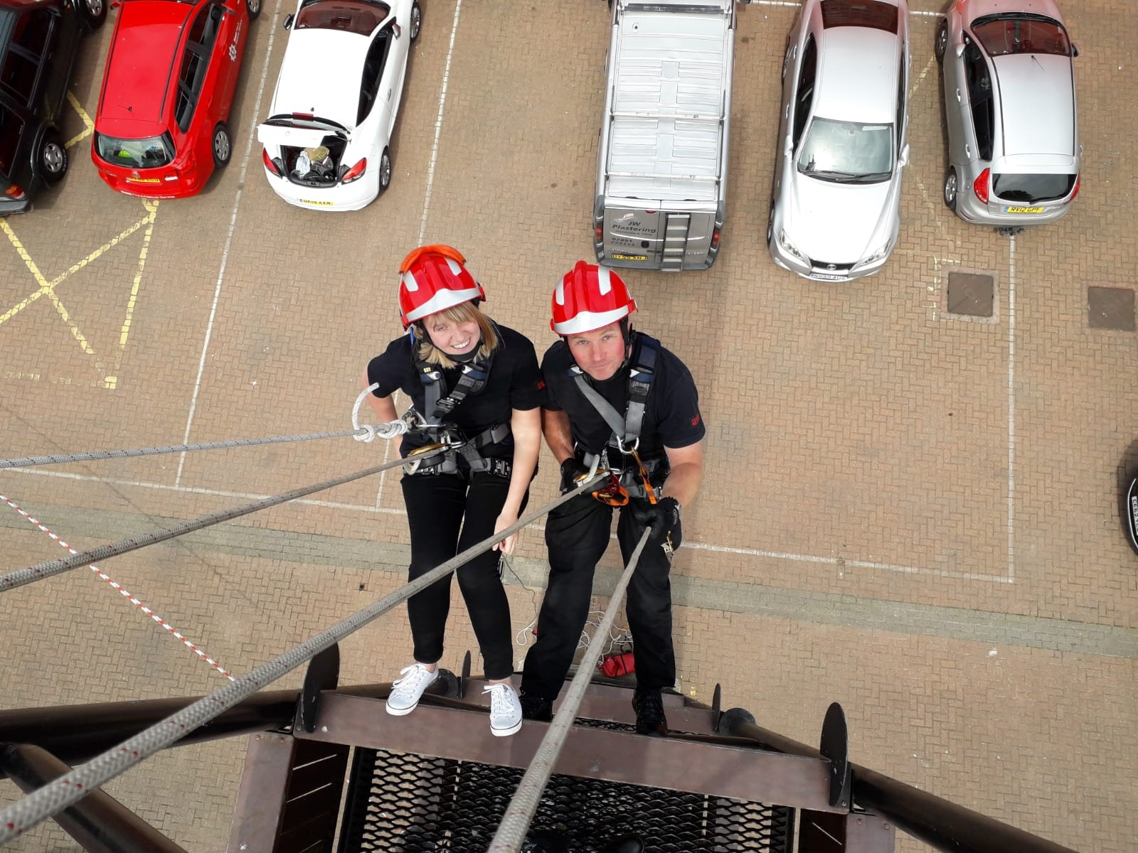 Kent Fire Control goes over the edge in the name of charity