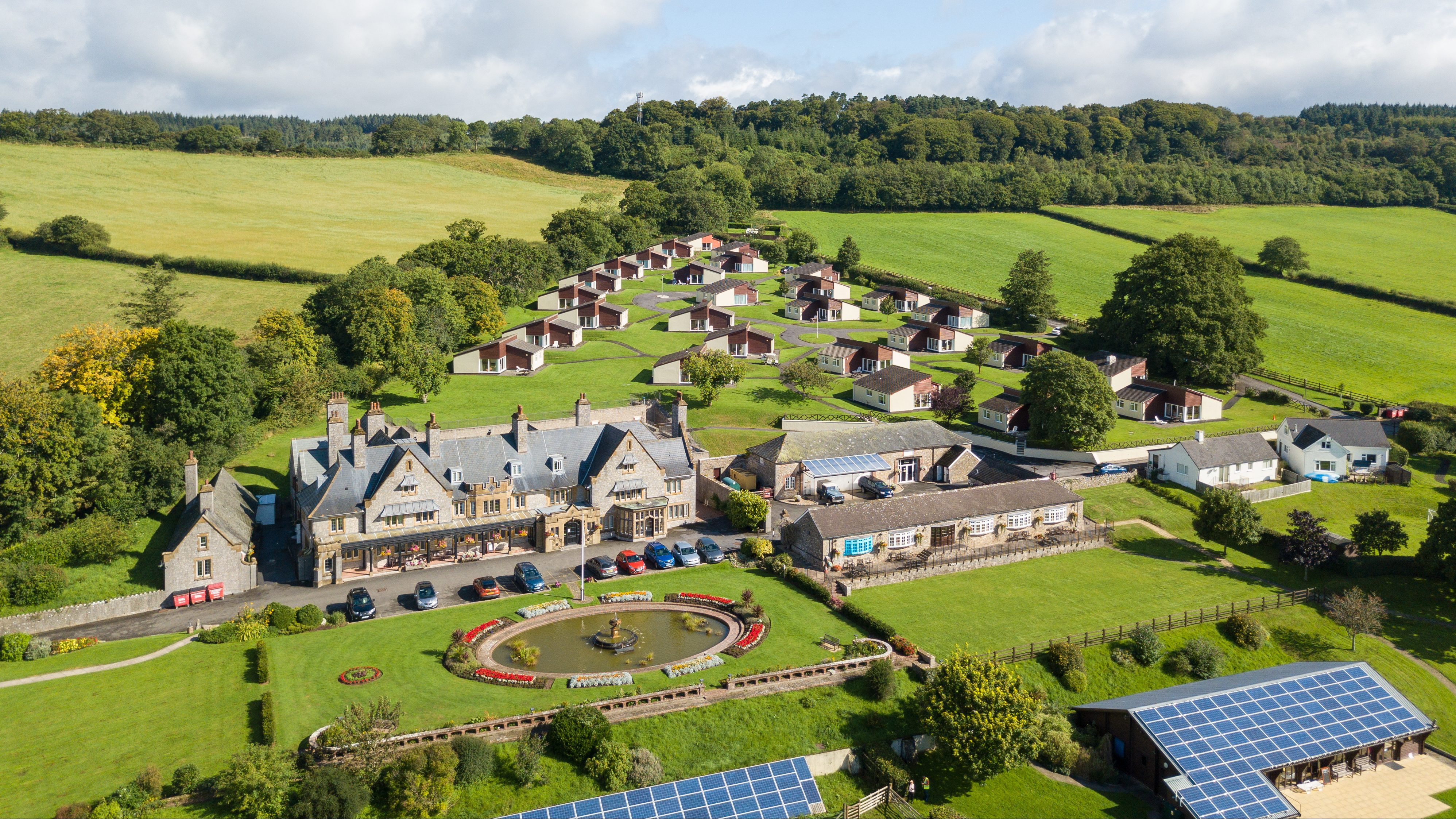 Harcombe House aerial