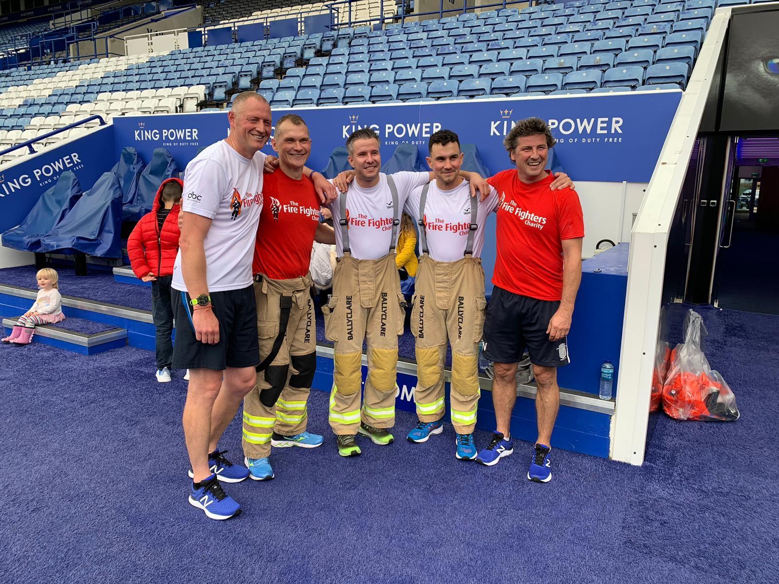 Leicester firefighters stadium run