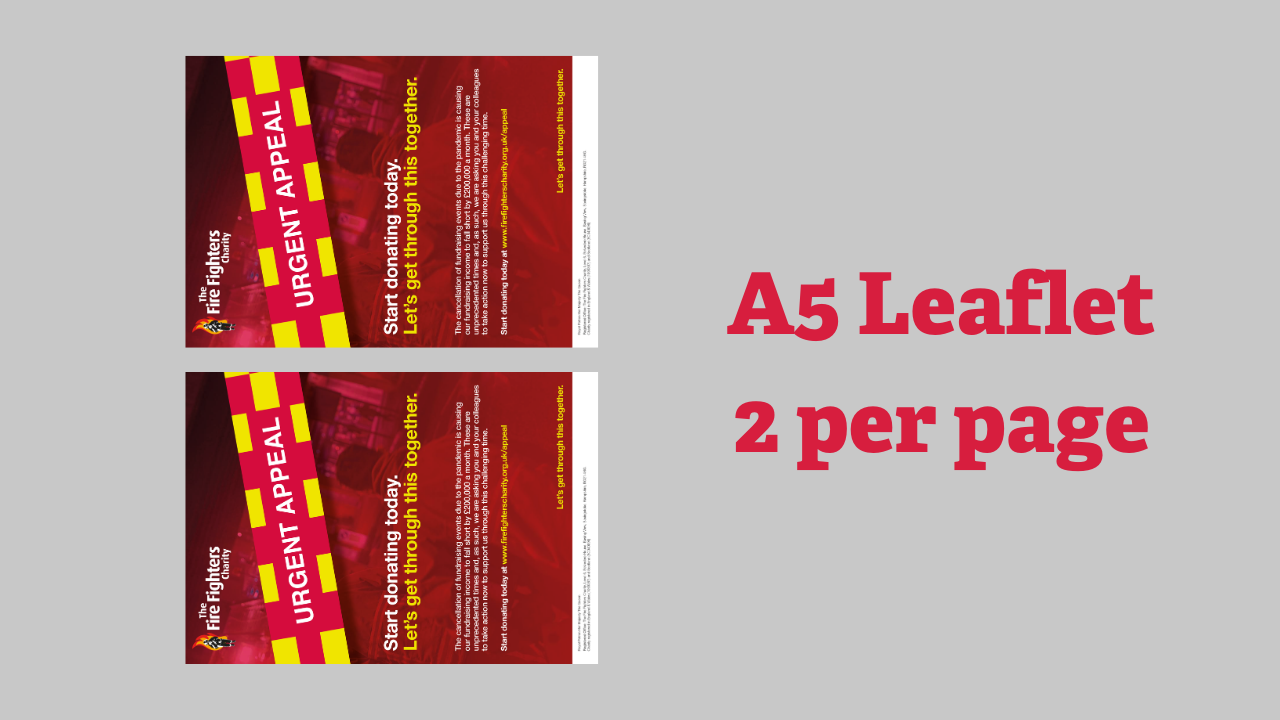Leaflet (A5 two per page)