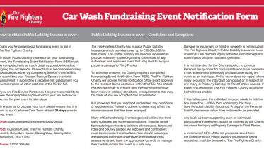 Fundraising Event Notification Form
