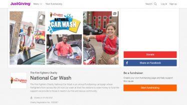 National Car Wash JustGiving Page