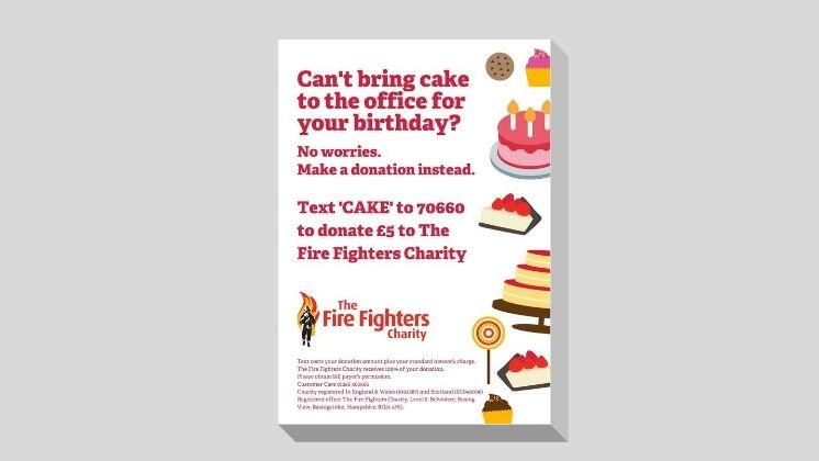 Birthday Cake Donation Poster (White)