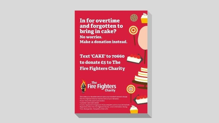 Overtime Cake Donation Poster (Red)