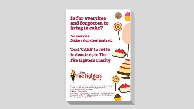 Overtime Cake Donation Poster (White)