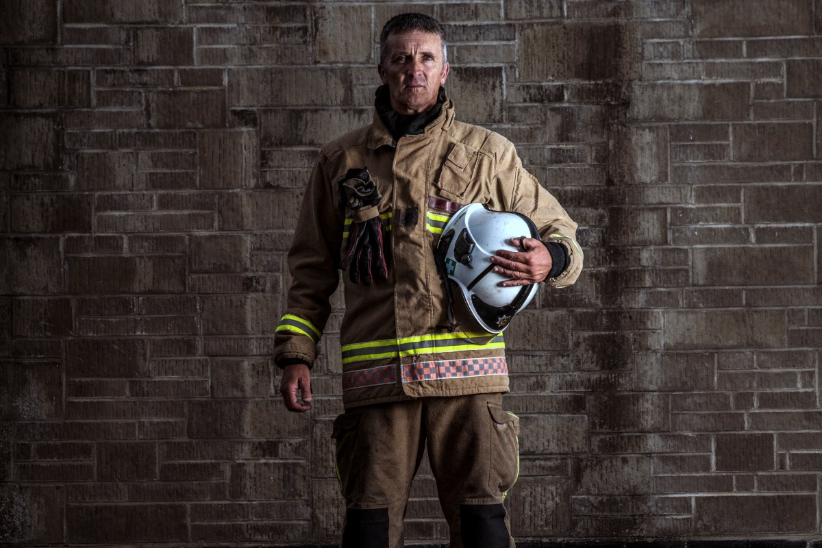 Mark S Firefighter Unifrom Wall Landscape Web