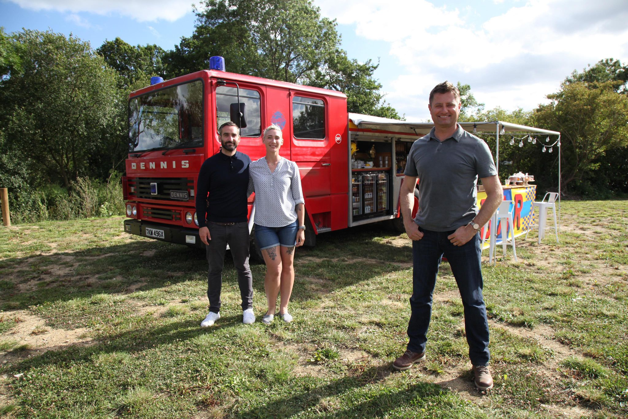 Beneficiary's fire engine bar appears on George Clarke's Amazing Spaces