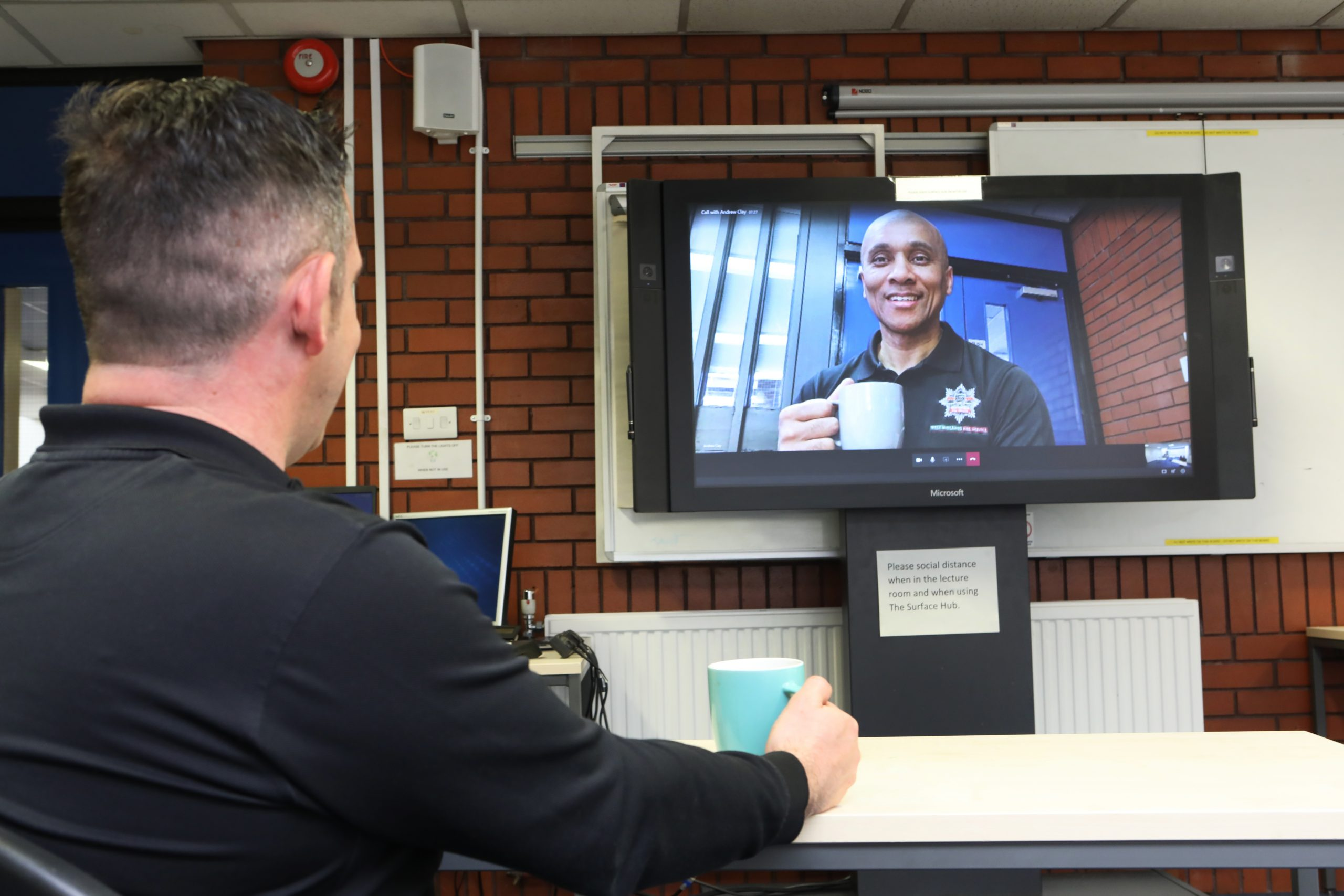 WMFS Firefighter on video call – Brew with a crew