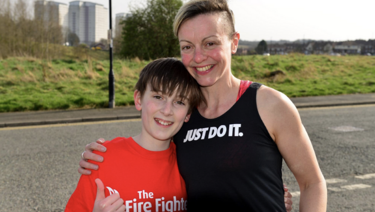 Firefighter's son, 11, smashes Fire Family Challenge