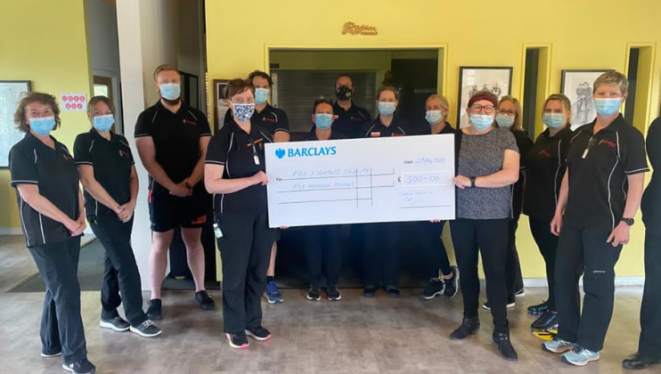 Cumbria Health on Call's amazing donation for employee