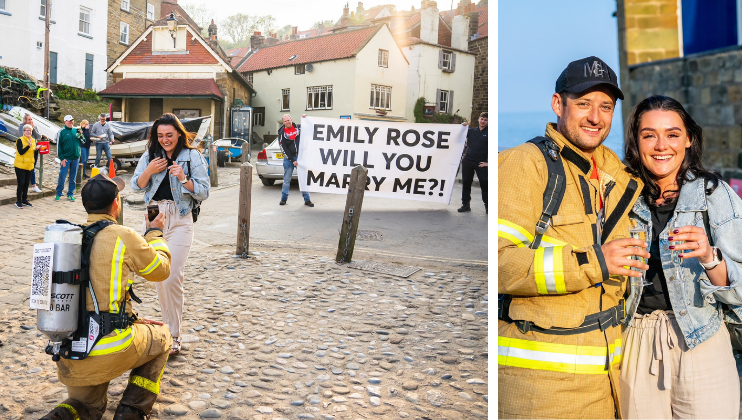 Firefighter proposes after gruelling 190-mile fundraiser