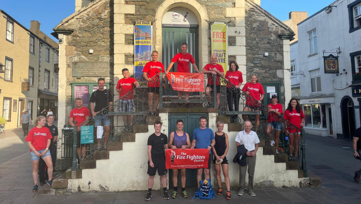 Firefighters scale 85 summits across 132 miles for Charity