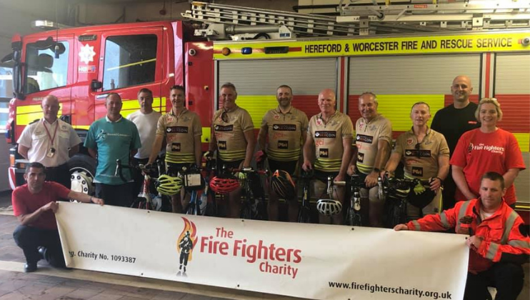 Firefighters take on 'LEJOG' challenge to thank Charity for support