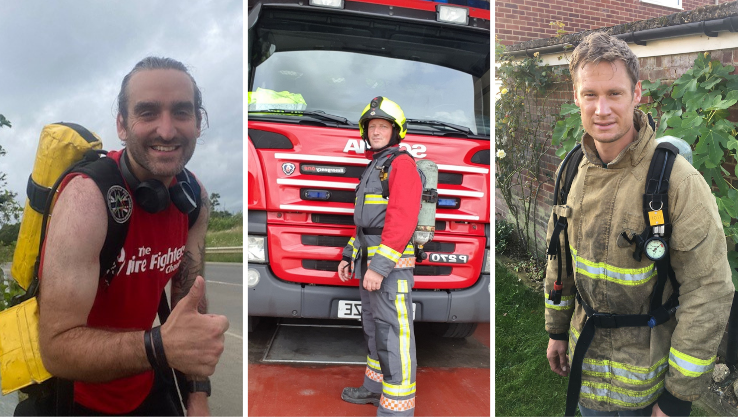 Firefighters take on London Marathon in full kit and BA sets